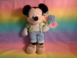 Disney Store Mickey Mouse Flowers Bouquet Bean Bag Plush Toy w/ Tags - a... - $8.66