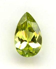 Pear Cut 1.3 Carat Peridot Gemstone