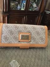 Guess  Scandal  Mocha  mulit   mega  snap  wallet  NWT - $36.99