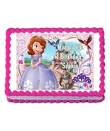 SOFIA the first princess party decoration cake topper cake image frostin... - $7.80
