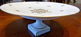 Vintage Royal Limoges France Cake Or Sandwich Stand Tid Bit Tray White &... - $34.94