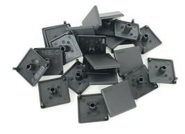 LOT OF 25 NEW BOSCH REXROTH 842502674 COVER CAPS 45X45MM BLACK 842-502-674