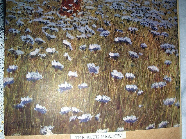 THE BLUE MEADOW Vintage Lithograph Print-Sweet Dutch Girls P