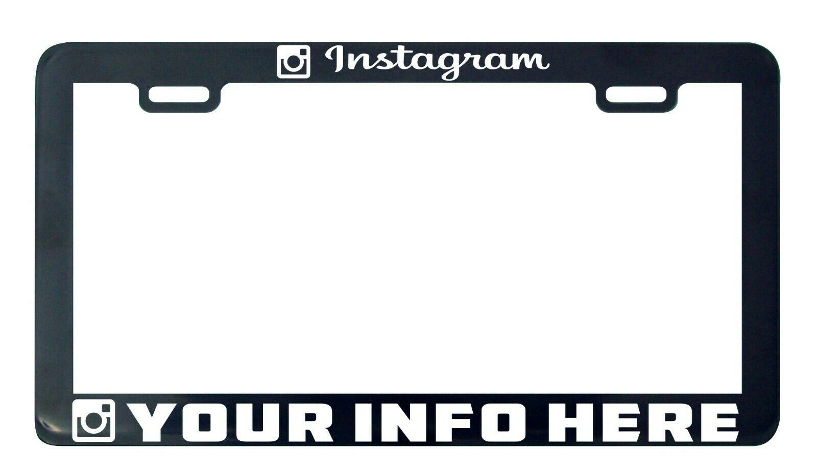 Primary image for Instagram Camera Design your own custom personalize license plate frame holder