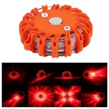 Rechargeable LED Safety Road Flare Flashing Warning Light Emergency Disc... - $32.90