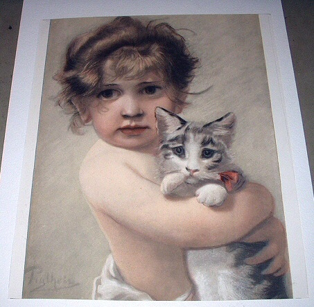 Girl with cat 01