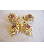 Avon Vintage Butterfly Pin Brooch Big Bold Beau... - $18.69