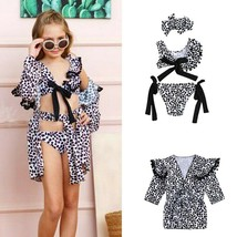 Fashion Kids Baby Girls Leopard Printed Swimwear Sets Tassels One Should... - $10.09+