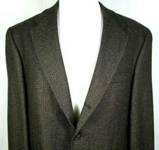 Chaps Ralph Lauren Sport Coat Size 46 Regular 100% Wool Brown & Black Check - $39.55