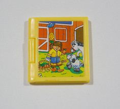 FISHER PRICE LOVING FAMILY DOLLHOUSE MINIATURE YELLOW FARM NURSERY PICTU... - $5.88