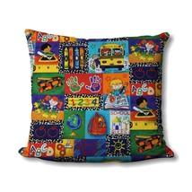 Kinder Kids Patch Pillow - School Supplies Home Decor - Homeschool Room Decor -  - $19.99