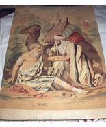 Late 1800s Antique Chromolithograph Print-THE GOOD SAMARITAN - $52.00