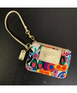 COACH Women's Multicolor Zip Up Closure Purse Handbag Wristlet Wallet Bag - $88.11