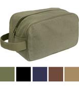 Tactical Travel Toiletry Bag Zipper Canvas Case Compact Organizer Portab... - $9.99