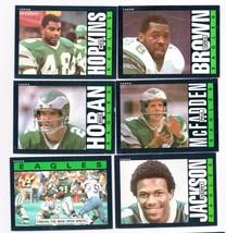 1985 TOPPS FOOTBALL 9 CARD EAGLES LOT   - $0.99