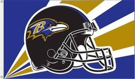 Baltimore Ravens Helmet Flag Nfl Football 3 X 5 - $18.71