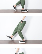Toward men's pants, summer men's loose feet, casual pants, Haren pants, men's ca image 7
