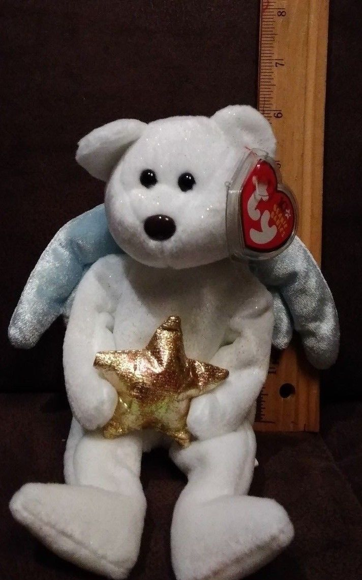 334f99277fd TY Beanie Baby - STAR the Angel Bear (Holding Gold Star) (8.5 inch) - MWMTs