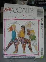 McCall's 5898 Girl's Knit T-Shirt, Tank Top, Pants or Shorts Pattern - S... - $7.91
