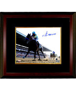 Victor Espinoza signed 16x20 Photo Custom Framed 2015 Belmont Stakes Horse Racin - $214.95