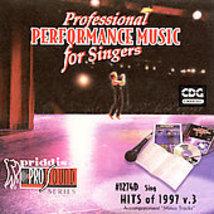 Sing Hits of '97 Vol 3 CD + G by Karaoke CD, Oct-1998, Priddis Free Shipping USA - $8.63