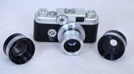 ARGUS C44 Vintage Rangefinder Film Camera f/2.8 50mm Lens + Wide Angle T... - $67.50