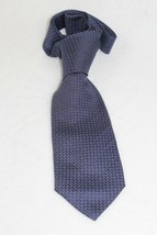 Giorgio Armani Silk Tie Italy Brown & Gray Mini Zig Zag Design - $39.59