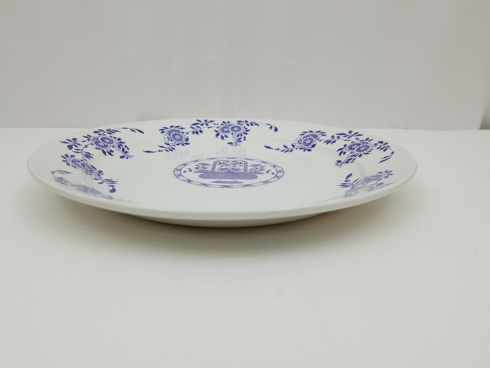 "Diamondstone Laveno White Chop Plate / Platter Ceramic Made in Italy 11.5"" image 8"