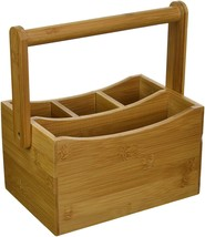 Lipper International 8842 Bamboo Wood Flatware Caddy with Folding Handle... - $25.52