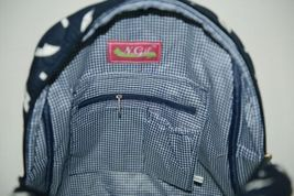NGIL DDT2828NY Navy and White Colored Quilted Anchor Backpack image 3