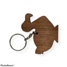 Goose/Duck/Bird Wooden Key Ring A427 - $14.85