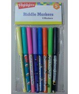 Highlights Package of Eight 8 Childrens Color Riddle Markers - $2.99
