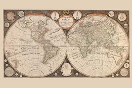 A New map of the world : with all the new discoveries by Capt. Cook and other na - $19.99+