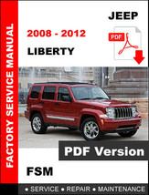 JEEP LIBERTY 2008 2009 2010 2011 2012 SERVICE REPAIR WORKSHOP MANUAL - $14.95