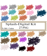 Splash Digital Kit-Jewelry Tag-Clipart-Art Clip-Gift Tag-T shirt-Digital... - $1.99