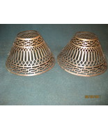Pair of Pierced metal candle lamp shades - $45.00