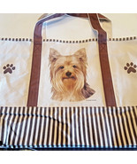 Yorkie Dog Canvas Tote Bag Pet Shopping Purse Beach Diaper Puppy Yorkshire - $29.88