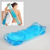 Dual Sided Back Scrubber Silica Gel Body Massage Brush Silicon Back Wash... - $35.14