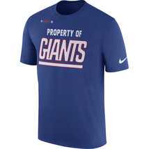 "New York Giants Nike ""Property of Giants"" Men's T-Shirt- Sizes XXL & XL ... - €19,52 EUR"
