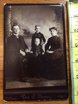 Cabinet Card Well to Do Couple & Two Young Sons Ohio 1860-80! - $8.00