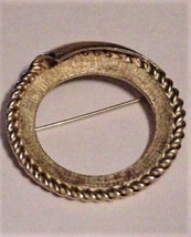 Vintage CORO Pin Brooch Circle Signed Gold-tone - $19.75