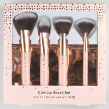 New 10 pc. Cosmetic Travel + Contour Foundation Brush Set With Bonus Bags image 4