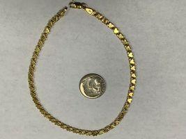 """Real Genuine 14K Solid Yellow Gold 9.5"""" Heart Link Bracelet /Anklet 5.5G image 3"""