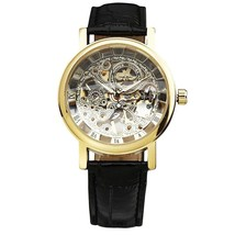 2019 Vintage Women Watches Mechanical Ladies Watch Leather Strap Skeleto... - $27.79