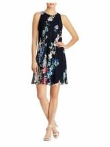 Lauren Ralph Lauren Dress Sleeveless Navy Blue Floral Sz 12 NEW NWT - $125.00