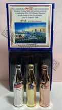 Coke Atlanta 1996 Olympics Games Gold/Silver/Bronze Mini Miniature Coca-cola bot image 2