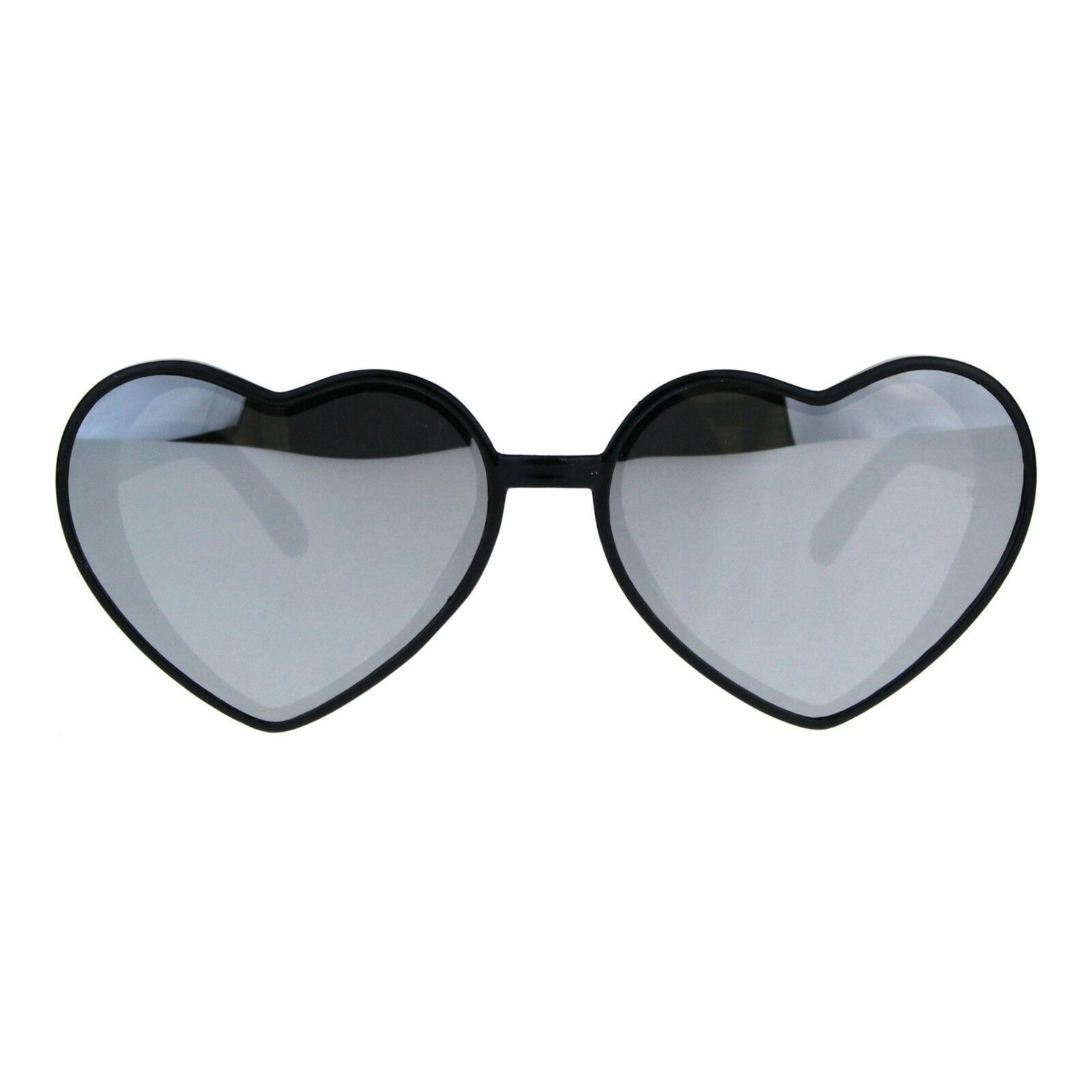 Oversized Heart Shape Sunglasses Womens Fashion Mirrored Lens Shades image 6