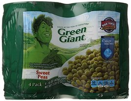 Green Giant Vegetable Cans, Sweet Peas, 60 Ounce - $19.09