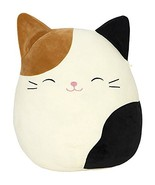"""SQUISHMALLOW Cameron The Cat Pillow Stuffed Animal, Tricolor, 16"""" - $35.61"""
