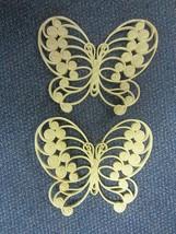 2 Vintage 1975 HOMCO Burwood Wall Art Decor Yellow Plastic Butterfly Pla... - $12.86